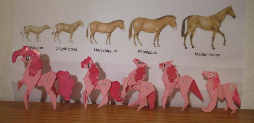 Origami Pinkie Pie Evolution