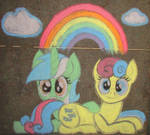 Chalk Lyra and Bon Bon