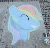 Chalk Rainbow Dash - GalaCon 2017 by Malte279