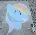 Chalk Rainbow Dash - GalaCon 2017