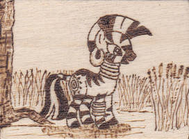 Pyrography Zecora by Malte279