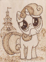 Sweetie Belle Pyrography by Malte279