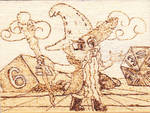 Spike as Garbunkle Pyrography by Malte279