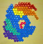 Rainbow Dash plastic mosaic (WIP)