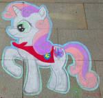 Chalk Sweetie Belle - GalaCon2018 by Malte279