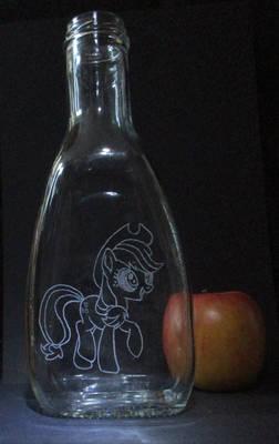 Applejack bottle engraving