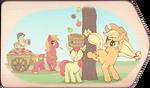Apple Family Harvest (digitally colored)