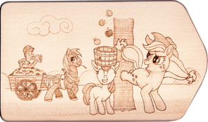 Apple Family Harvest Pyrography