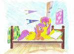 Scootaloo and Sunny Rays