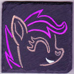 Scootaloo Slate Painting
