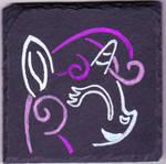 Sweetie Belle Slate Painting