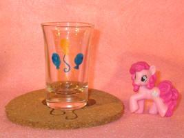 Pinkie Pie Cutie Mark shot glass and cork coaster by Malte279
