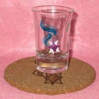 Starlight Glimmer Cutie Mark shot glass and cork c by Malte279