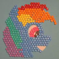 Rainbow Dash plastic mosaic 2019 by Malte279