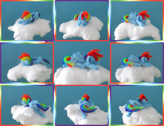 Pipe Cleaner Sleeping Rainbow Dash Collage by Malte279