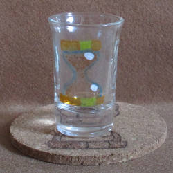 Dr. Hooves Cutie Mark shot glass and cork coaster by Malte279