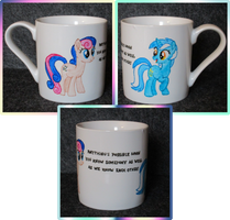 Lyra and Bon Bon cup collage