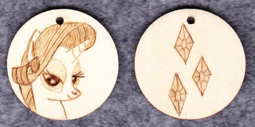 Rarity keyring pendant pyrographed