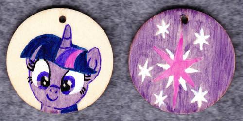 Twilight Sparkle keyring pendant