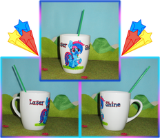 Commission: Laser Shine Cup Collage