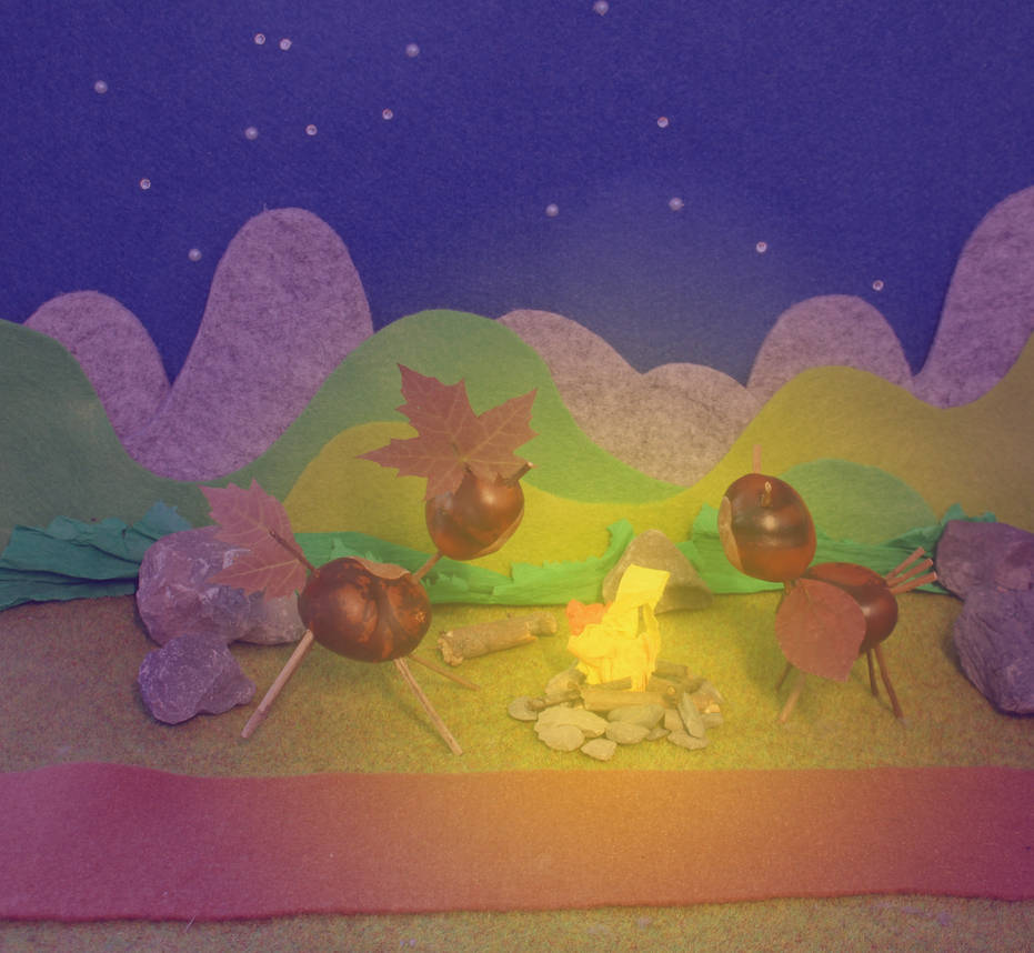 A Storm's Lullaby tribute - Chestnut figures