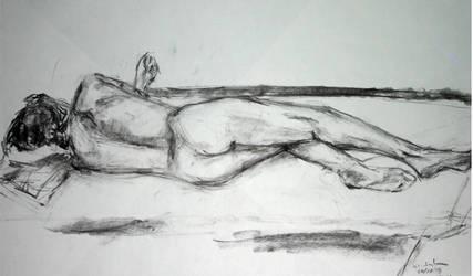 Modelo deitado