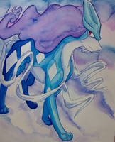Suicune Watercolor by direu