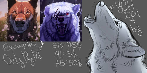 YCH The howling wolf OPEN