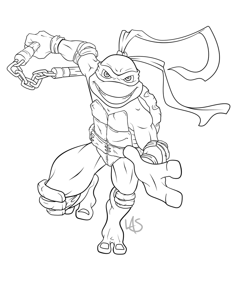 michael angelo tmnt coloring coloring pages