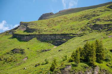 Rock Formation in the Bernese Alps by enaruna