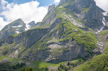 Mountain in the Bernese Alps by enaruna