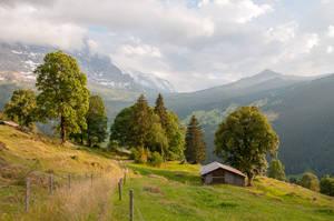 Landscape in Grindelwald by enaruna