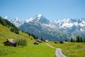 The Jungfrau Mountain by enaruna