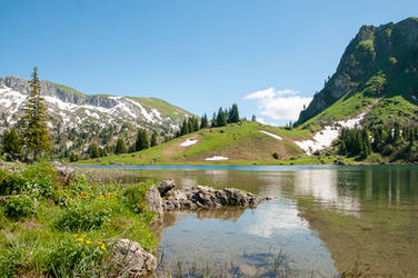 Lake in the Bernese Alps by enaruna