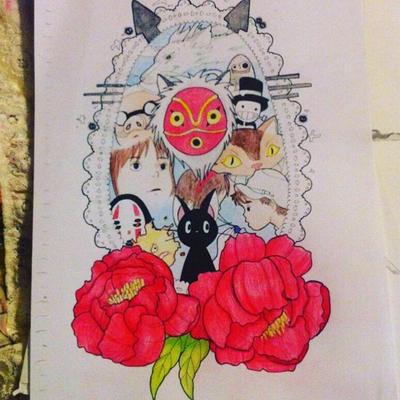 Studio Ghibli Tattoo Design Mine No Steal By Rosemarydeviantart On Deviantart