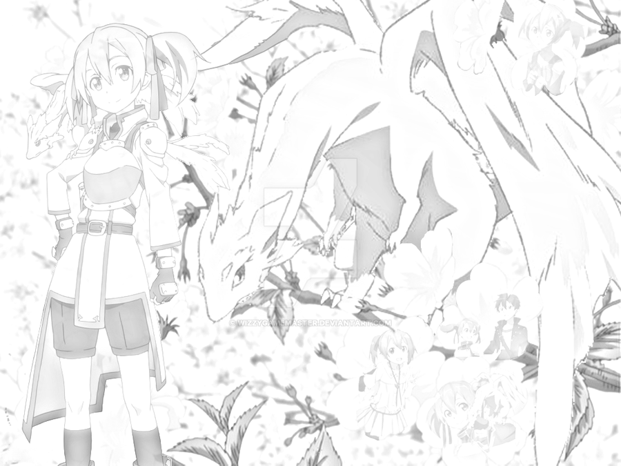 Silica sword art online pencil sketch style by wizzygamemaster