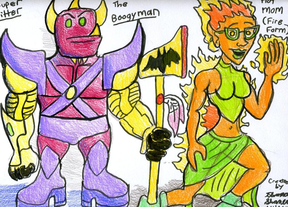 Super-Sitter-Concept-Art-Boogeyman-Hotmom by Ronin356