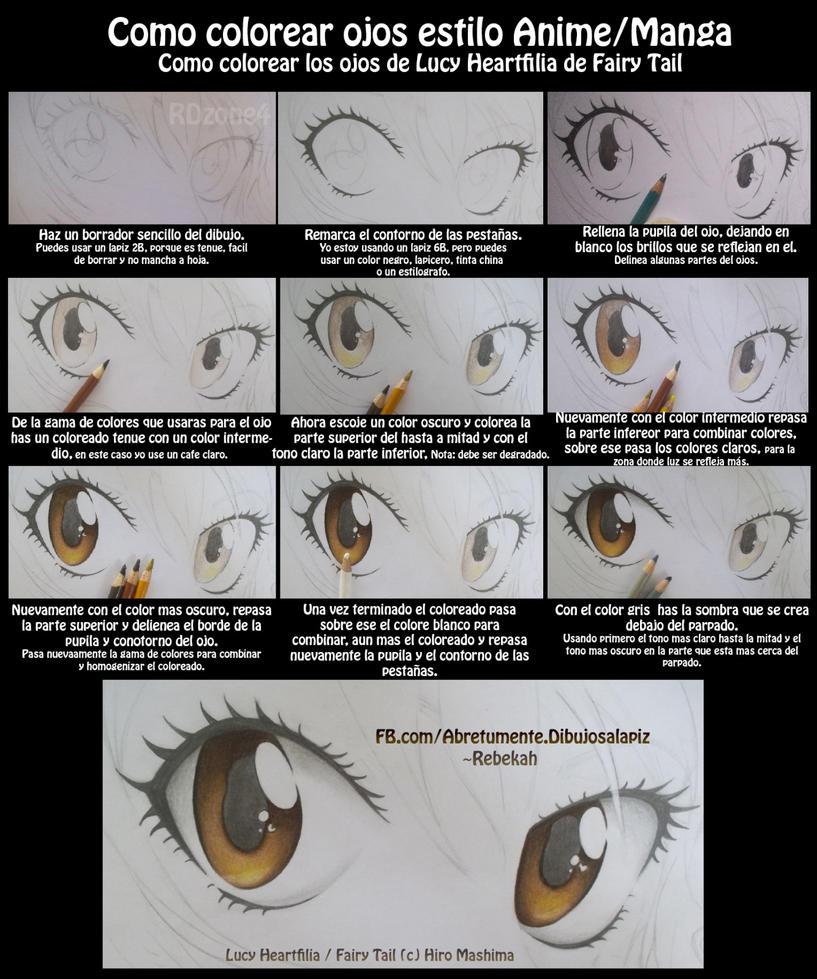 Como colorear ojos estilo Anime by RDzone4 on DeviantArt