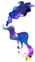 Vector Galaxy Luna and Celestia
