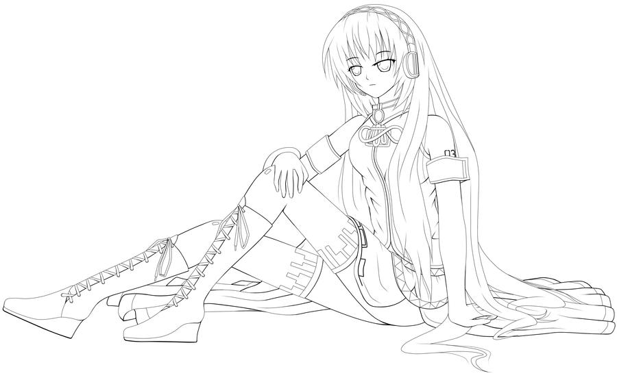 Vocaloid Luka Free Coloring Pages Vocaloid Coloring Pages