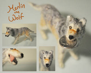 Merlin the Timber Wolf by k-times-two