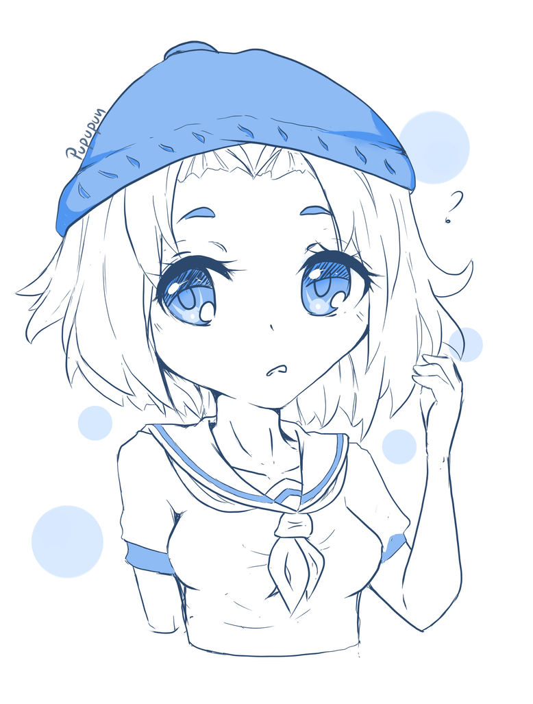 Blue again but this time with speedpaint by pupupun