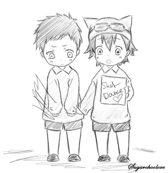 Tsubaki and Bossun by Sugarchocolove