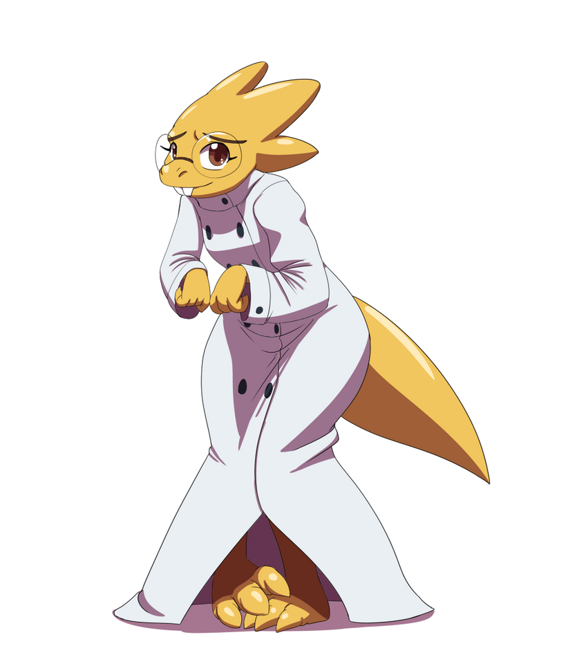 Dr.Alphys Base By Kojiro-Brushard On DeviantArt