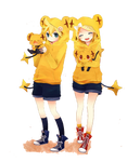 Render kagamine Rin and Len