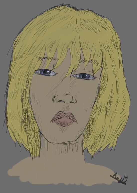 Sketch Test - Blondie by MsSunnyMuffins