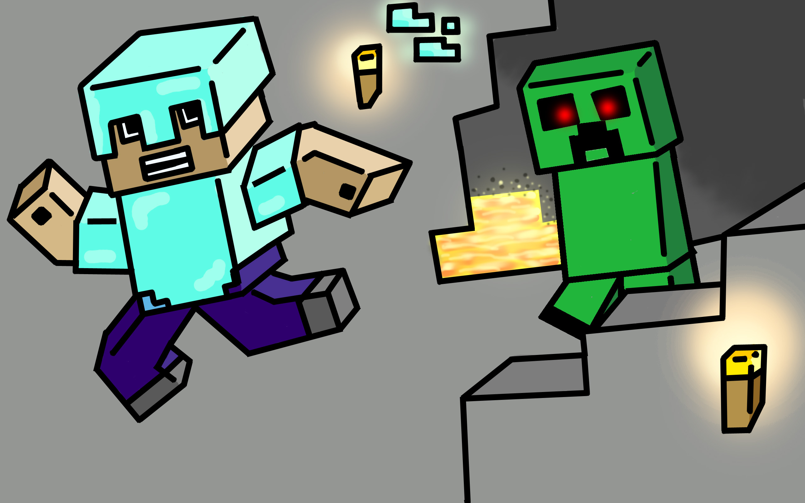Skydoesminecraft Fan Art Tumblr Minecraft Captainsparklez Revenge Fan Art By Jadens Dad