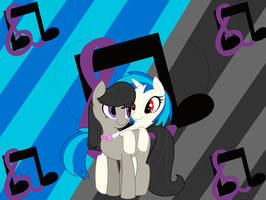 Octavia and Vinyl(Tavi and DJ Pon3) by FaithTheHedgehog45