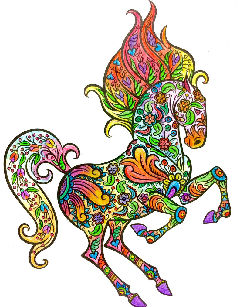 Rainbow Horse by zer0anonymous
