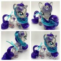 My Little Pony Glory Snowglobe Custom by TiellaNicole